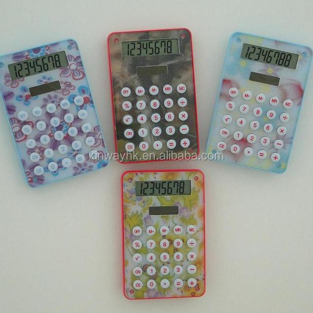 gift electronic 8 digit crystal pocket calculator