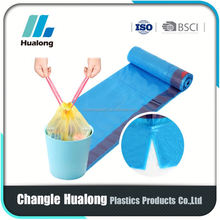 HDPE drawstring garbage bag on roll