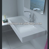 Modern pure acrylic artificial stone hand carved kitchen wash basin