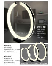 Black acrylic ring led table lamp for hotel decoration