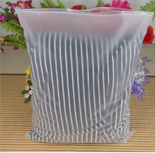 Matte Clear Soft Plastic Packaging Zipper Bag Clothes Storage Reclosable Pouches frosted zippper bag