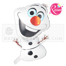 Reians customized 72*43cm cartoon Olaf frozen foil balloon stores shaped party supplies baloon (Accept OEM,ODM)