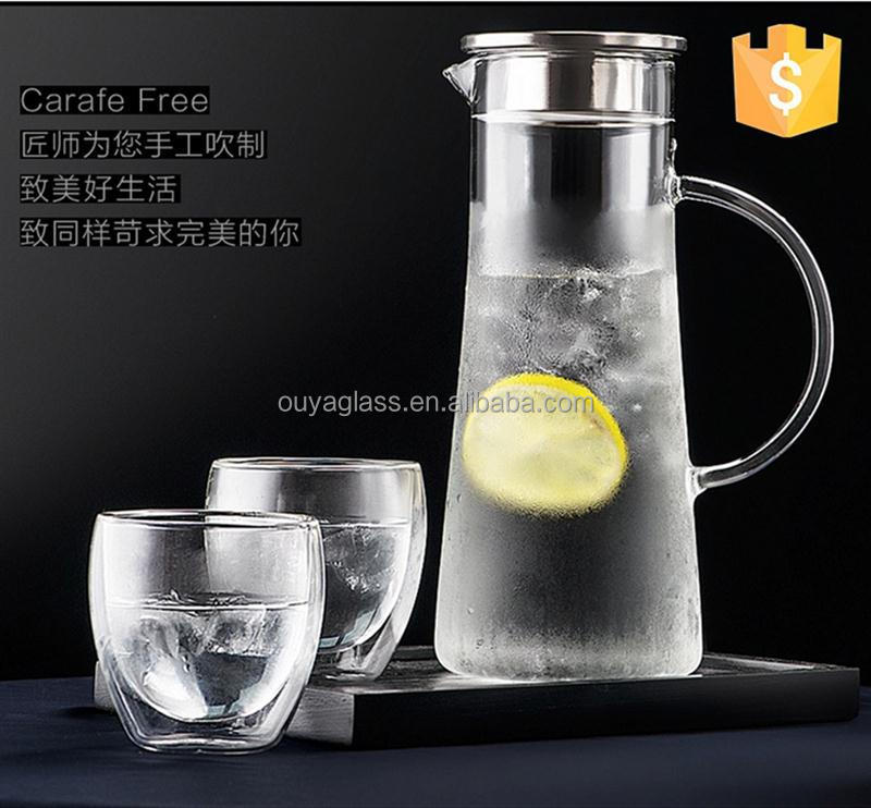 Multifunctional tea pot with fliter arabic glass tea pot with handle smart tea pot for wholesales