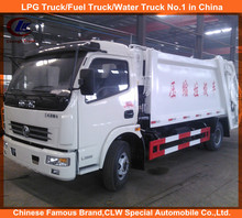 Chinese manufacture CLW 4*2 Dongfeng Mini Compressible Garbage Truck for sale