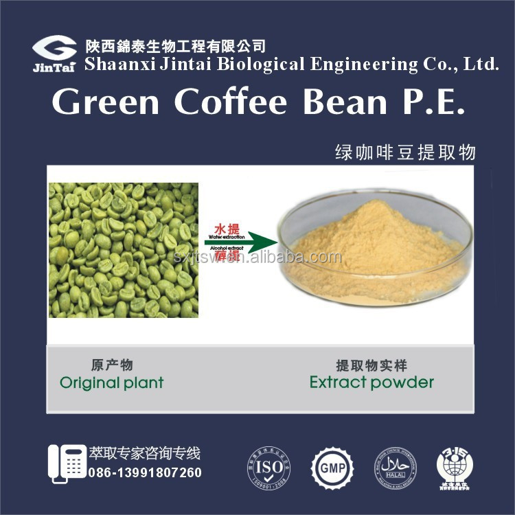 chlorogenic acid 50% green coffee bean extract CAS No: 327-97-9