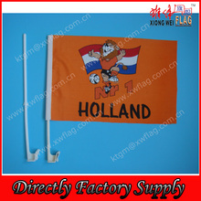 polyester advertise Lion Holland flag with car flag pole