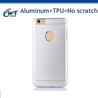 CWT Aluminum TPU double 5 inch mobile phone case for iphone6 covers