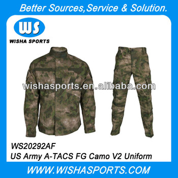 US Army A-TACS FG Camo V2 Field Combat Uniform Set Economy Version