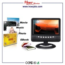 800*480 Mini 7inch LCD Portable TV With lcd tv with sd card reader 7inch sd card slot