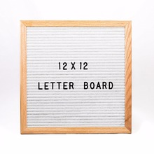 12 X 12 Inches Best Size wooden Letter Board with Alphabet and Symbols