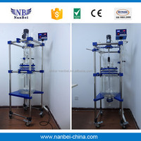 Explosion proof chemical jacketed glass laboratory reactor