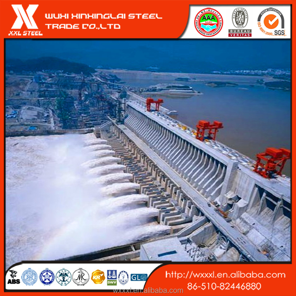 Large Diameter hydropower penstock API 5L Spiral Welded Steel Pipe /plate
