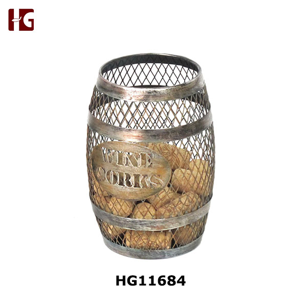 Metal Wine Barrel Cork Holder For Corks Catcher