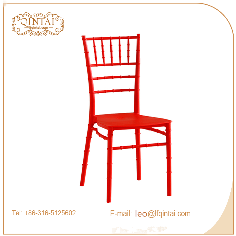 white stacking pp plastic bamboo dining chair wedding/events chair