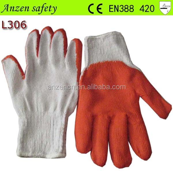 best sale latex cotton lined latex work glove