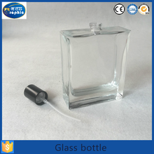 Wedding gift square lid transparent glass perfume spray bottle to malaysia