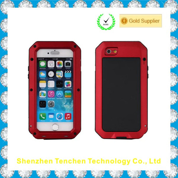 China Supplier metal military Waterproof Mobile Phone Case For iphone 6 case