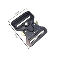 Quick Side Release Metal Strap Cobra Buckle For 38Mm Webbing Diy Bags Luggage Sewing Accessories