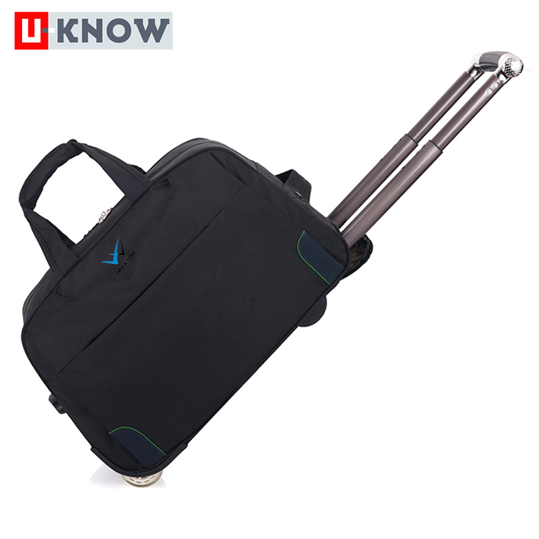 China hot products brand names polyester small trolley bag for luggage