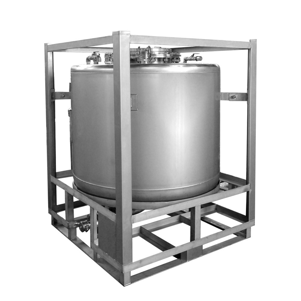 Hot sale 1000L round ibc stainless steel fuel tanks for sale
