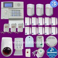 38 Zones PSTN and GSM Dual Network Wireless Home Security Alarm System w PC Setup and SMS Alert Feature iHome2W3