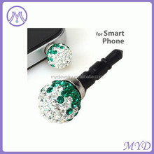 3.5mm crystal phone dustproof plug in shenzhen wholesale