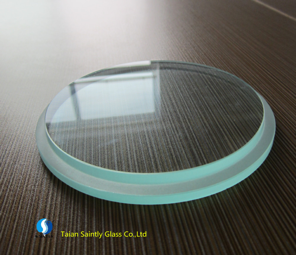 8mm tempered lighting cover and round steps glass