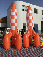 inflate rocket balloon/inflatable rocket replicas