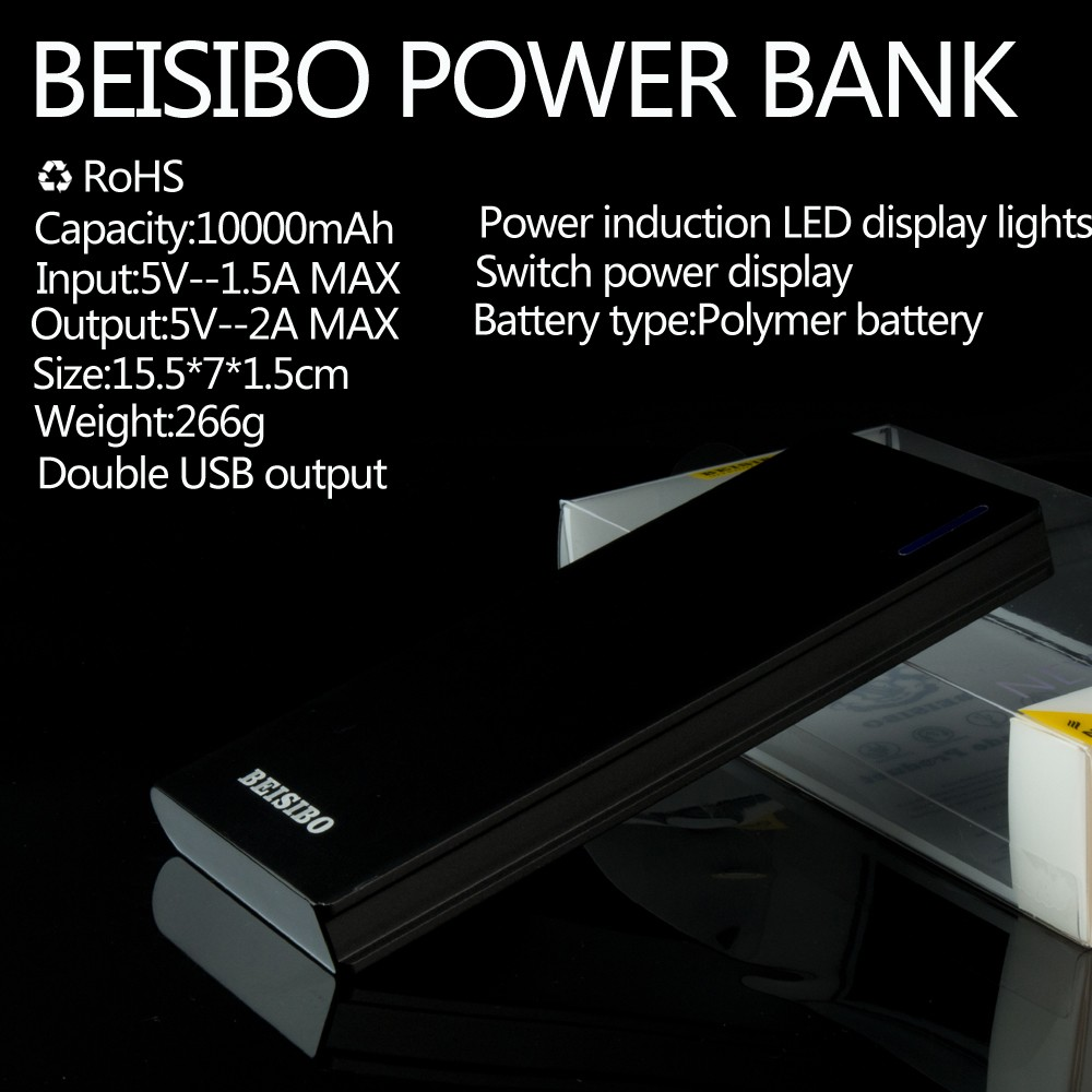 ultra thin power bank 10000mah lithium polymer battery portable charger power bank
