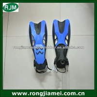 2014 good quality swimming water flippers for diving TPE+PP