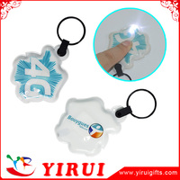 custom promotional cheap soft pvc charms rubber LED Keychain