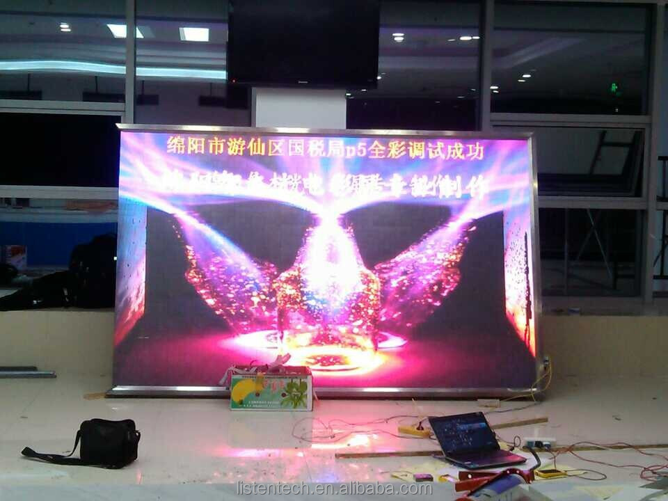 RGB full color advertising video led screen control card for railway station/Auditorium/stadium more brightness LS-Q1-75