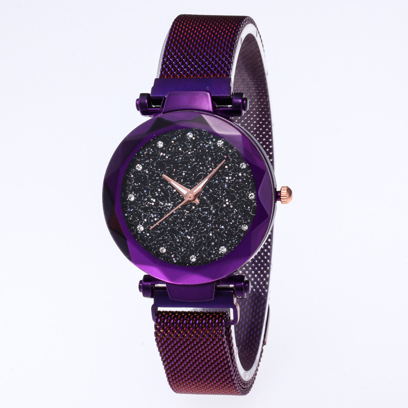 2019 <strong>Hot</strong> sales Low MOQ Women Quartz Star Watch clock OEM lady Reloj Bracelet Mesh strap Wrist Shinning Ladies Watches