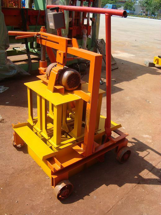portable hollow block making machine