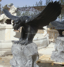 Black Marble Eagle Stone Animal Park Sculpture