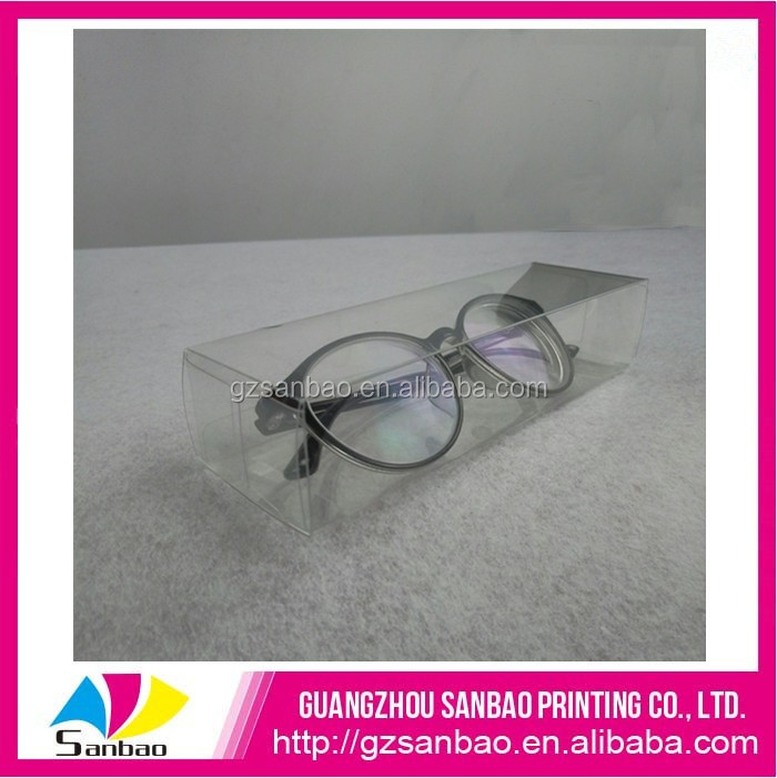 Transparent sunglasses package clear gift box PP pack box