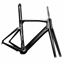 "2017 Made in China OEM 700C Headtube 1-1/8""-1-1/4"" Compatible DI2 Carbon Road Bike Frame"