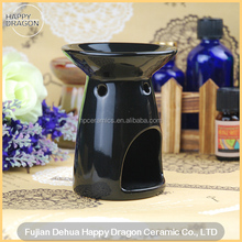 Round Black Ceramic Incense Burner