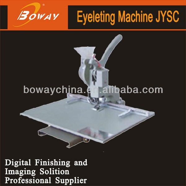 Boway service JYSC punch machine with brass eyelet for tarpaulin