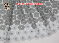 grey white cord lace fabric fashion korean ladies lace dress beaded lace fabric