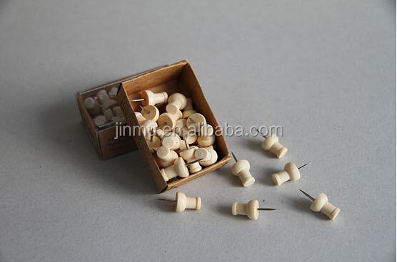 Wholesale Wooden Handle Drawing decorative upholstery nails Push Pin paper pin