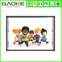 Low cost high quality multi touch screen USB interactive white board movable whiteboard with mobile stand for school