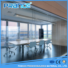 Unusual office glass partition wall