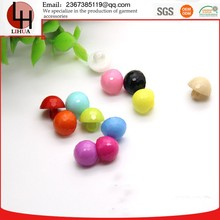 Wholesale Plastic colour Mushroom shape buttons for skirts children's sweater 390pcs per bag 11mm