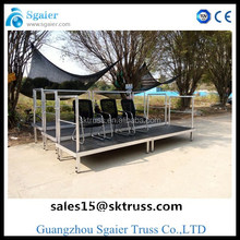 aluminum Top quality promotional convenient mobile stage risers for sale 2012