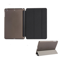 Folded ptotective with back cover Smart sleep case for ipad mini Air 5 6 Pro flip stand leather case