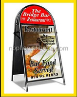 Free standing A board poster pavement sign,outdoor advertising poster stand