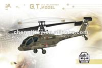 New 4 channel single blade apache rc helicopter