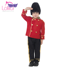 Wholesale custom made cosplay costomes kids british guard dress up role play costume
