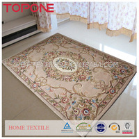 Fashion good modern design flower floor high quality oem wool carpet